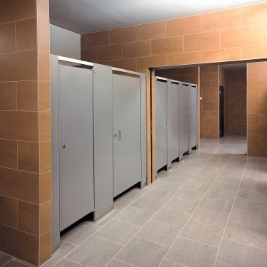 Hadrian Partitions Stainless Steel Floor Mounted
